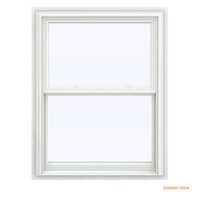 31.5 in. x 40.5 in. V-2500 Series White Vinyl Double Hung Window with BetterVue Mesh Screen