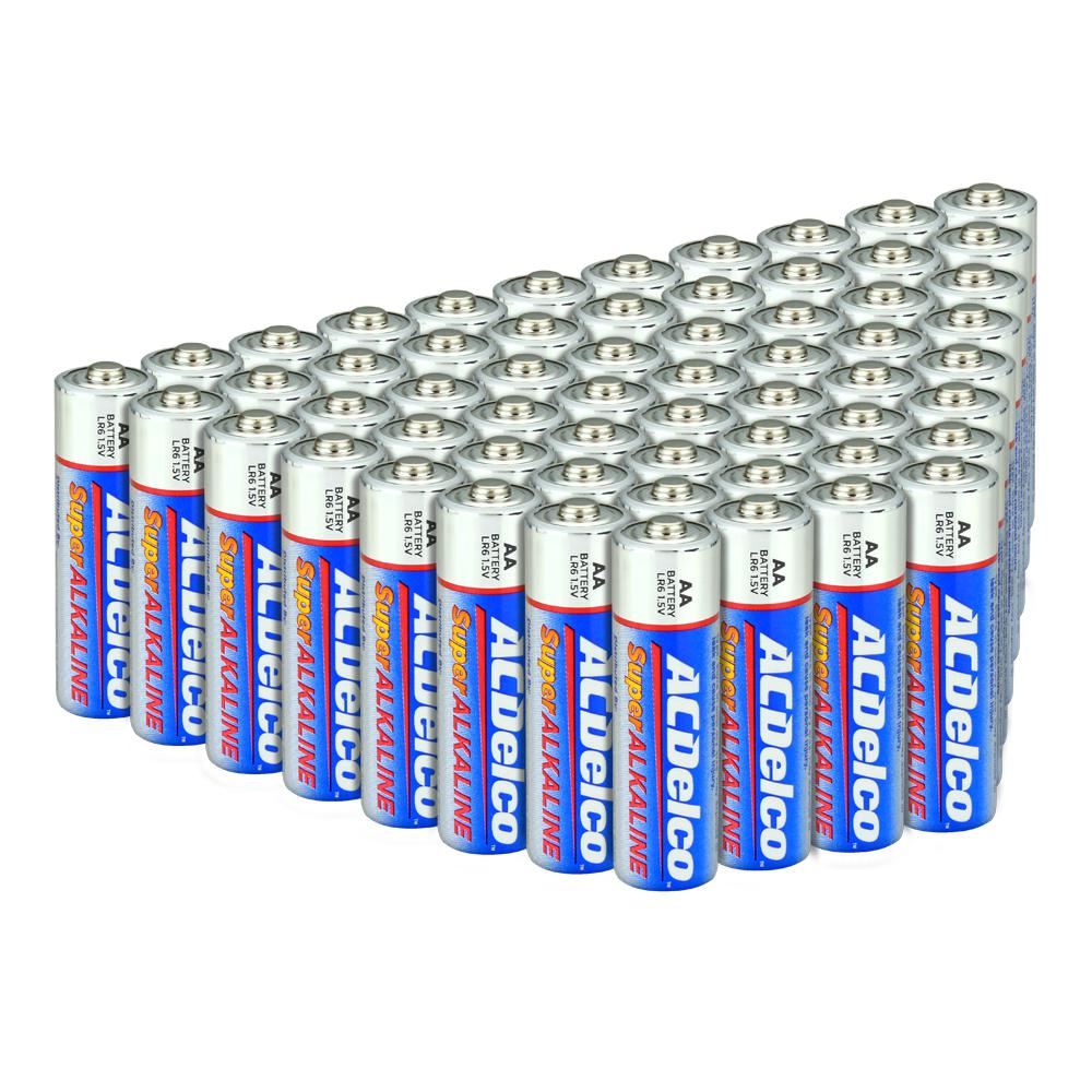 ACDelco AA Super Alkaline Batteries in Recloseable Package 48 Count