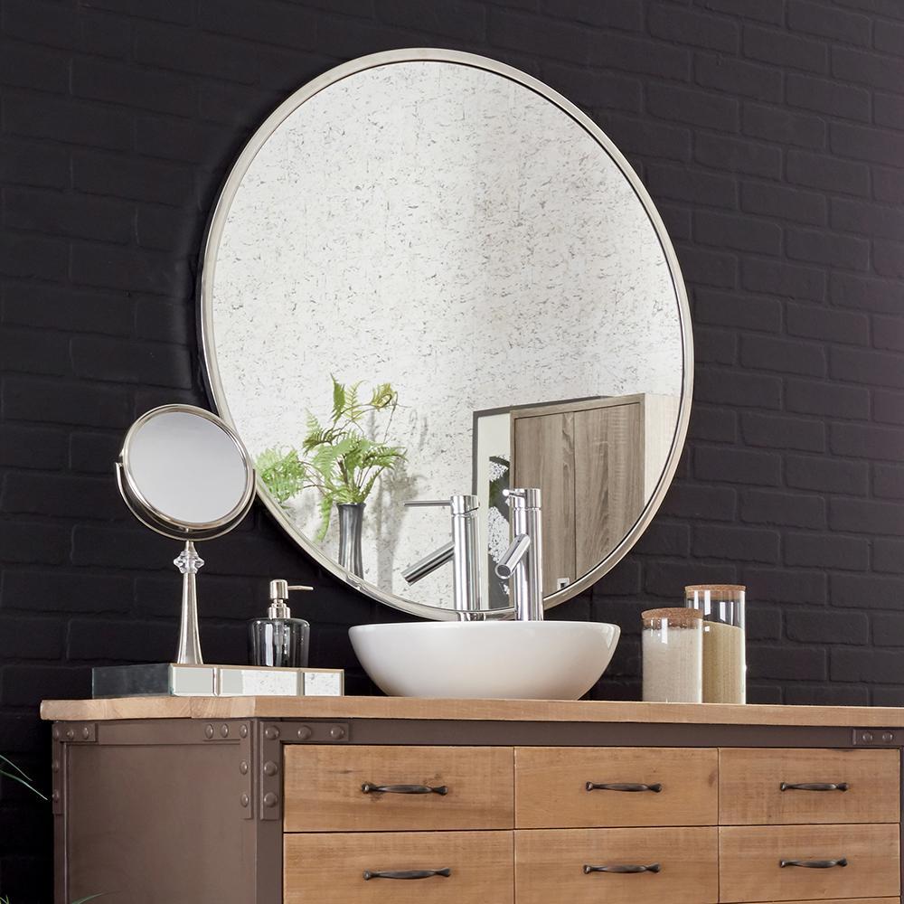 Howard Elliott Simone Round Decorative Mirror-48054 - The Home Depot