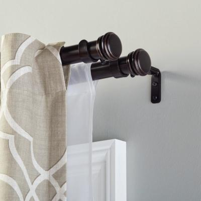Mix and Match 1 in. Double Curtain Rod Bracket in Oil Rubbed Bronze (3-Pack)