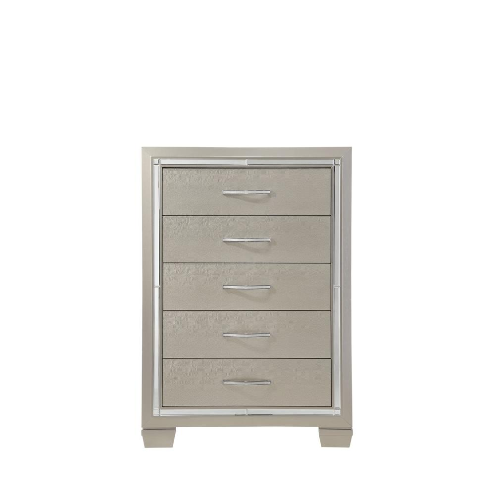 5 drawers champagne glamour chest lt100ch the home depot