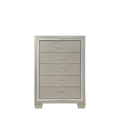 5- Drawers Champagne Glamour Chest