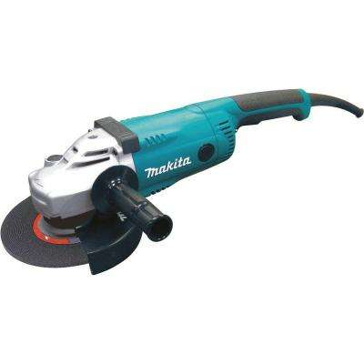 15 Amp 7 in. Corded Angle Grinder with Grinding wheel, Side handle and Wheel Guard