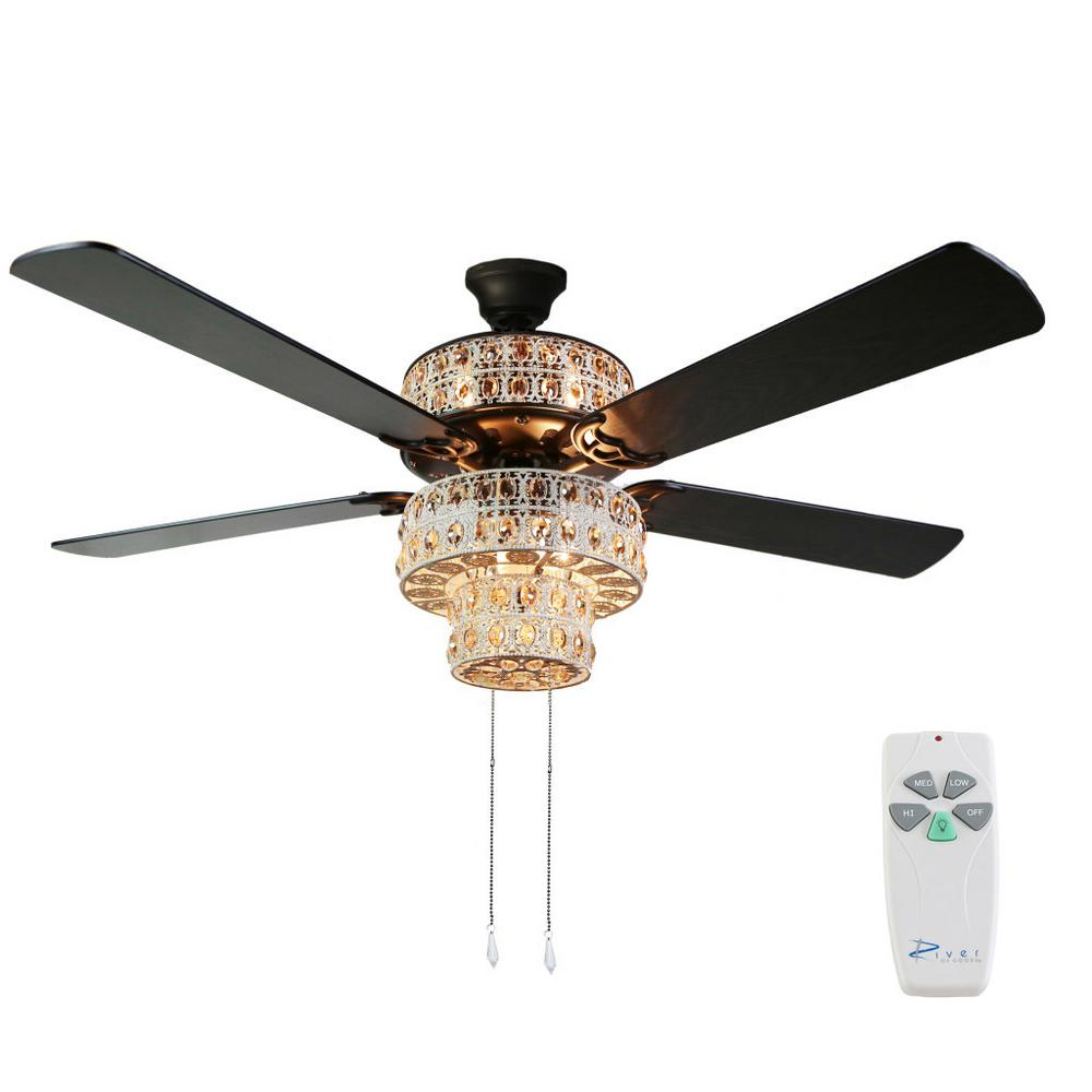 Indoor White Punched Metal Ceiling Fan