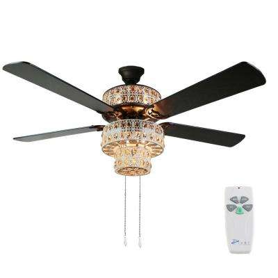 Bohemian 52 in. Indoor White Punched Metal Ceiling Fan