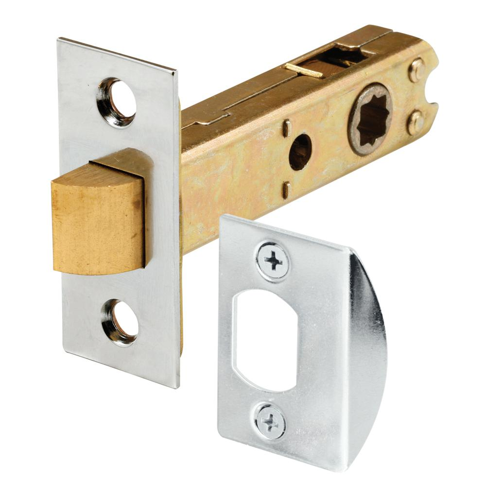 Prime-Line Passage Door Latch, 9/32 in. and 5/16 in. Square Drive, Steel, Chrome Finish