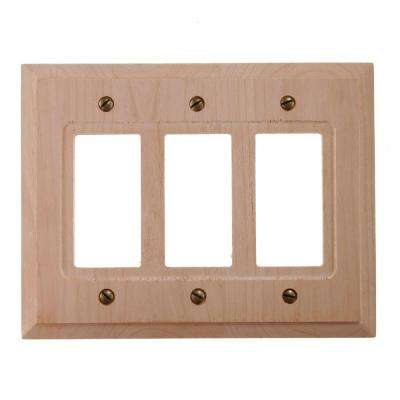 3 Decora Wall Plate - Un-Finished Wood