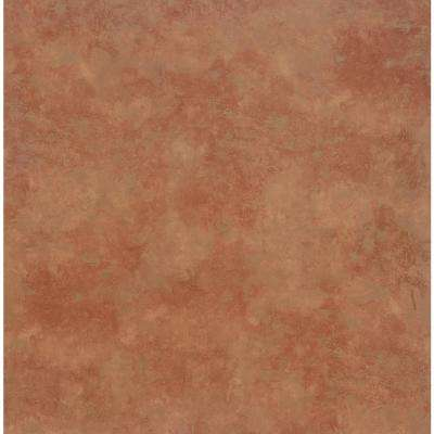 Take Home Sample - Terra Cotta Resilient Vinyl Plank Flooring - 18.5 in. x 9.25 in.