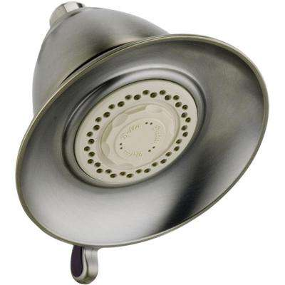 Victorian 3-Spray 5-1/2 in. Touch-Clean Shower Head in Stainless