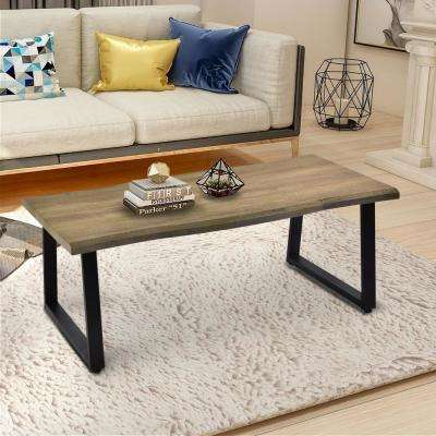 Rustic Natural Wood Accent Coffee Table