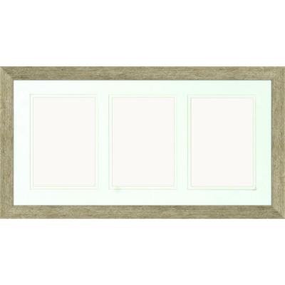 3-Opening Holds (3) 5 in. x 7 in. Matted Champagne Photo Collage Frame (Set of 2)