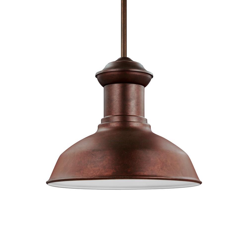 Fredricksburg Silver 1-Light Outdoor Hanging Pendant with LED Bulb
