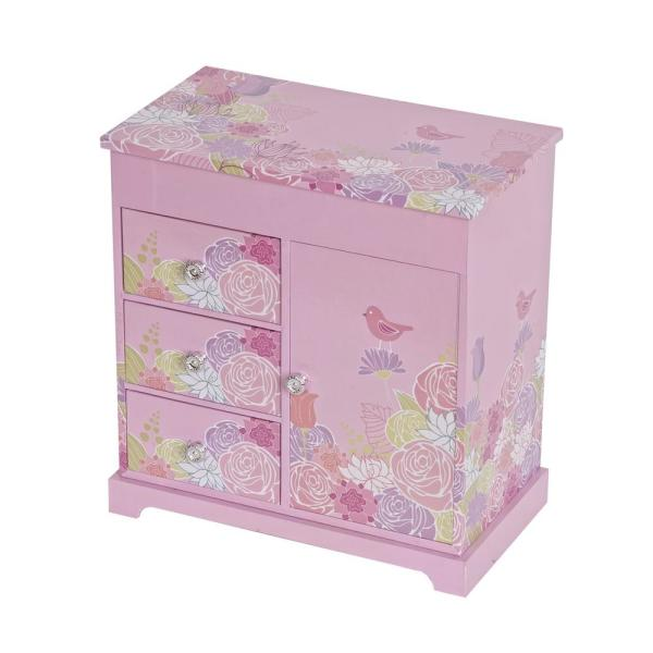 806f63d2e638 Pearl Girl's Pink Fashion Paper Musical Ballerina Jewelry Box