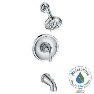 idora 5spray tub and shower faucet in chrome - Moen Shower Handle