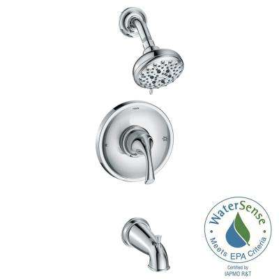 Idora Single-Handle 5-Spray Tub and Shower Faucet in Chrome (Valve Included)