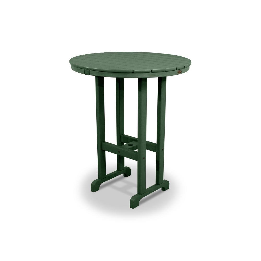 Trex Outdoor Furniture Monterey Bay Rainforest Canopy 36 in. Round Patio Bar Table