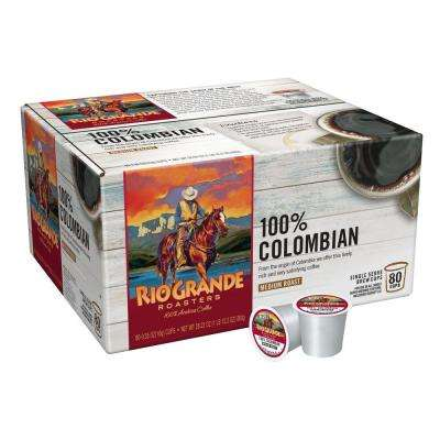 100% Colombian Coffee (80 Single Serve Cups per Case)