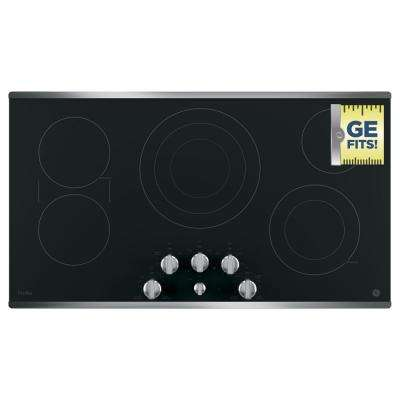 36 in. Electric Smooth Cooktop in Stainless Steel with 5 Elements including Power Boil