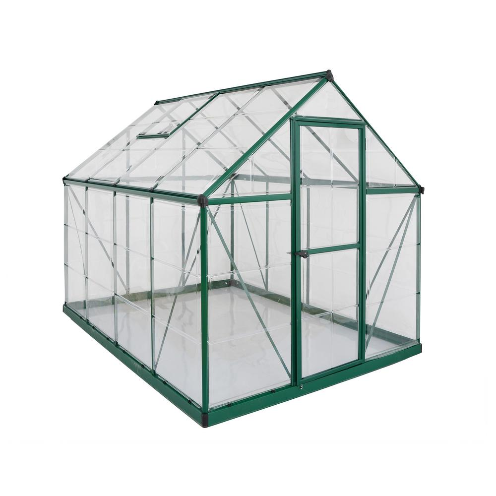 Palram Harmony 6 ft  x 8 ft  Polycarbonate Greenhouse in Green