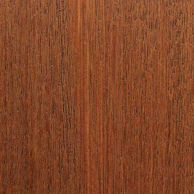 3 in. x 6 in. Garage Door Composite Material Sample in Mahogany Species with Medium Finish