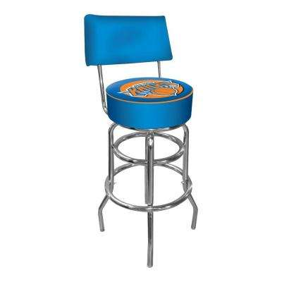 New York Knicks NBA 30 in. Chrome Padded Swivel Bar Stool