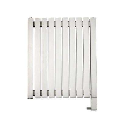 10-Bar Wall Mounted Electric Towel Warmer with Digital Timer in Stainless Steel Brushed