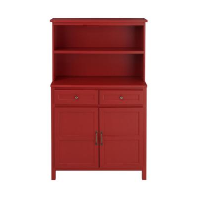 StyleWell Chili Red Wood Transitional Kitchen Pantry (36 in. W x 58 in. H)