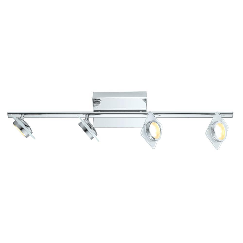 EGLO Tinnari 2.5 ft. Chrome Integrated LED Track Lighting...