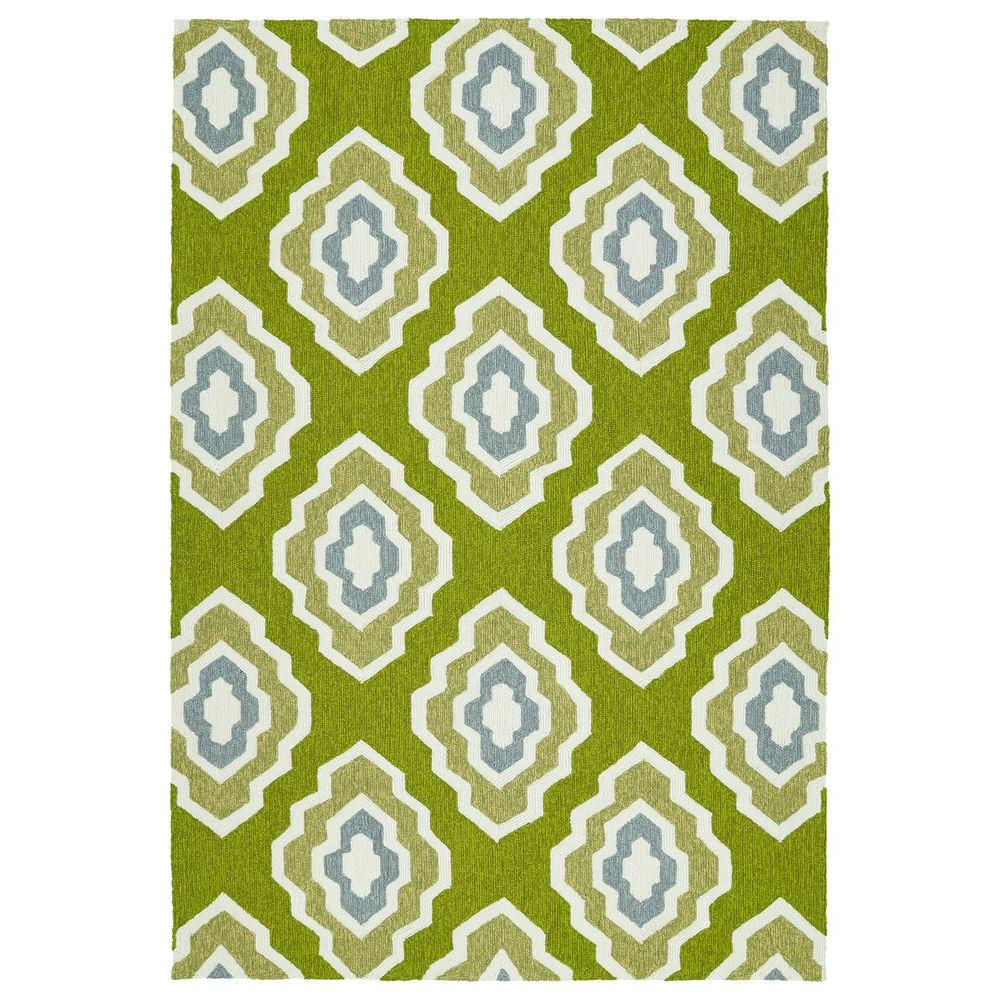 Escape Green 9 ft. x 12 ft. Indoor/Outdoor Area Rug