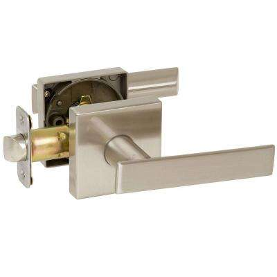 Kira Satin Nickel Bedroom and Bathroom Right-Hand Lever Door Lock