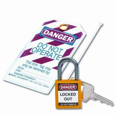 Compact Safety Padlock Kit - Yellow