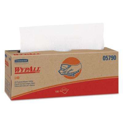 L40 White Towels Pop-Up Box (100/Box, 9 Boxes/Carton)