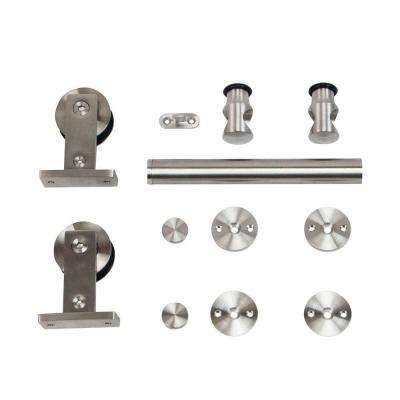 Stainless Steel Top Mount Rolling Door Hardware for Wood Doors
