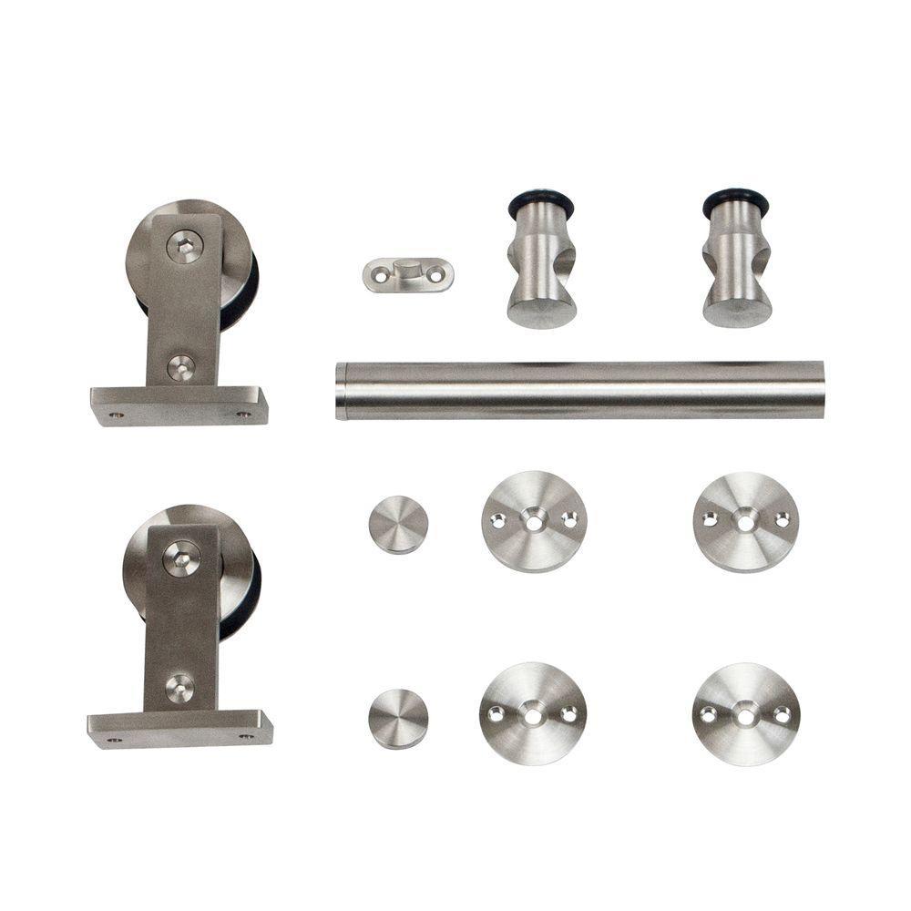Stainless Steel Top Mount Rolling Door Hardware for Wood Doors