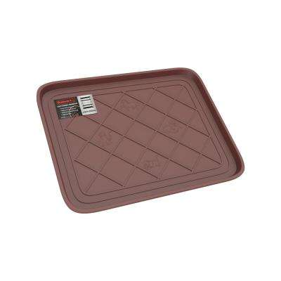 Brown 19.75 in. x 15.5 in. All-Weather Boot Tray