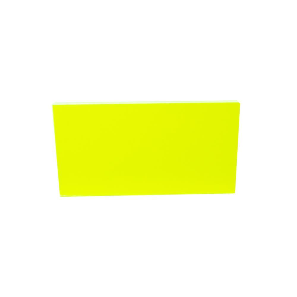 Falken Design 24 In X 36 In X 1 8 In Thick Acrylic Fluorescent Green 9093 Sheet Falken Design Acr Flr Grn 9093 1 8 2436 The Home Depot