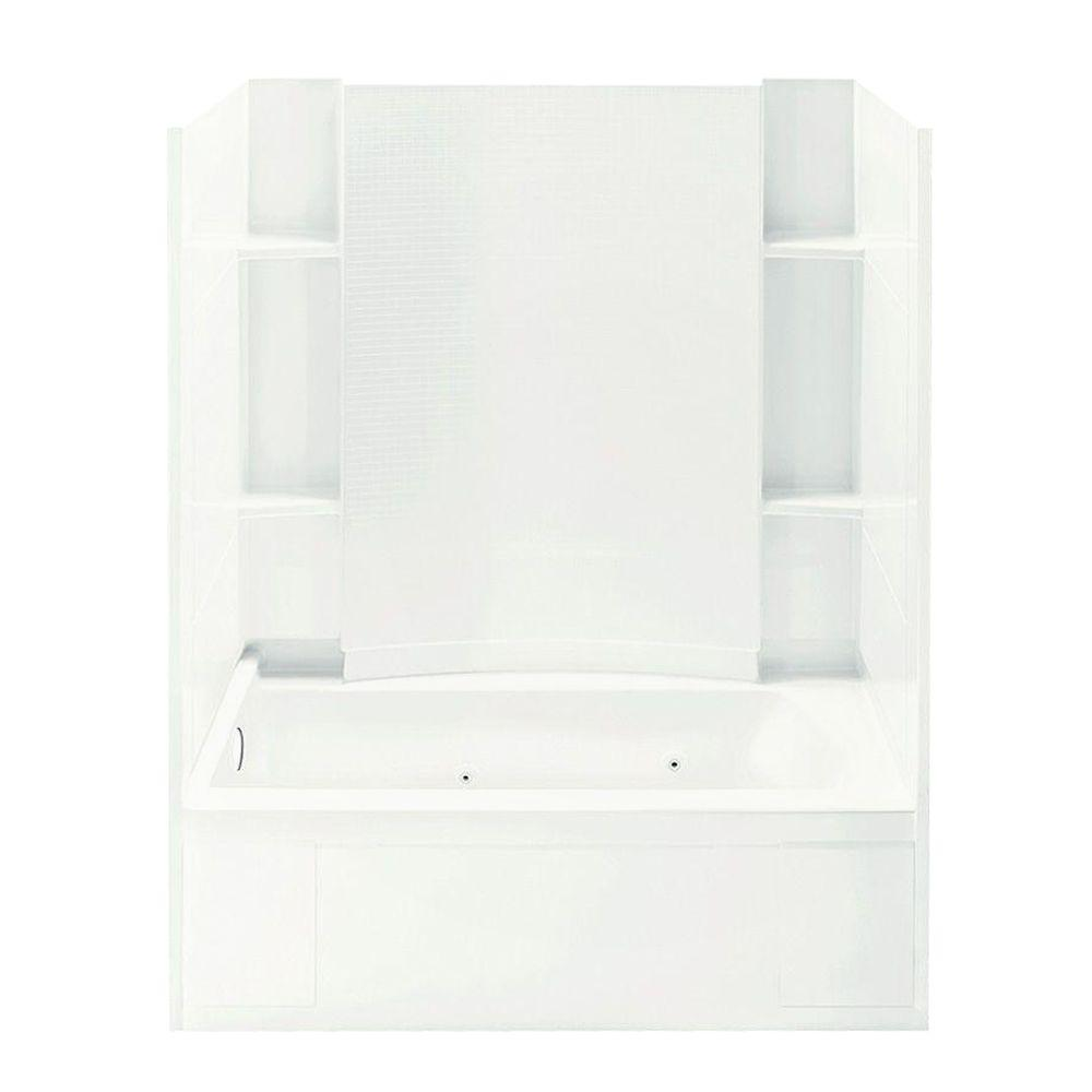 STERLING Accord 32 in. x 60 in. x 74 in. Whirlpool Bath and Shower Kit with Left-Hand Drain in White-DISCONTINUED