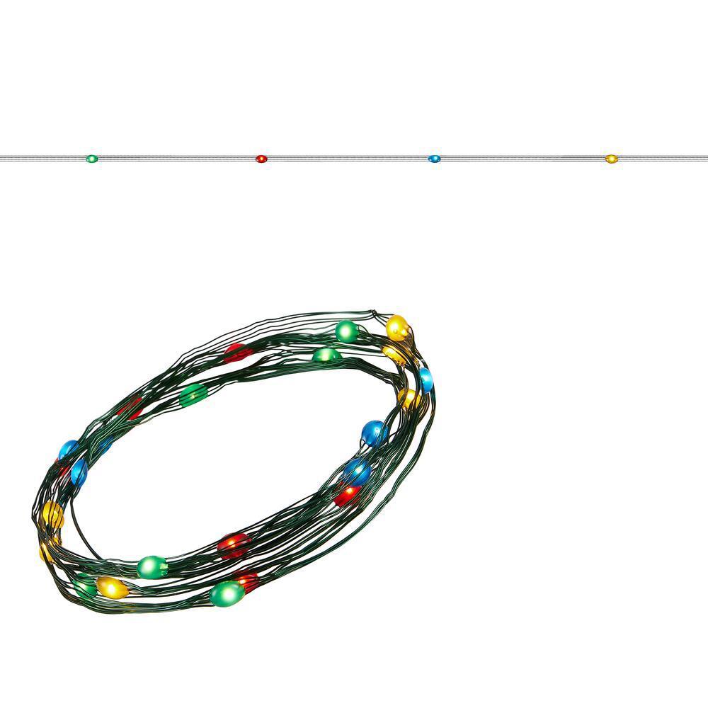 8 ft. 24 LEDs Ultra Slim Wire Multi-Color Large Dot String Light
