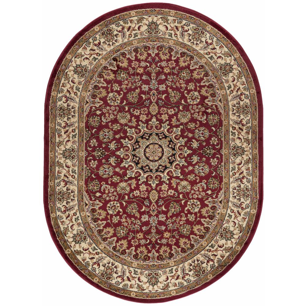 Elegance Red 6 ft. 7 in. x 9 ft. 6 in.