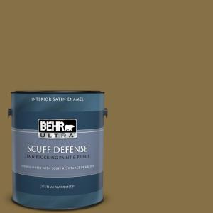 Behr Ultra 1 Gal 370f 7 Pinetop Extra Durable Satin Enamel Interior Paint And Primer In One 775301 The Home Depot