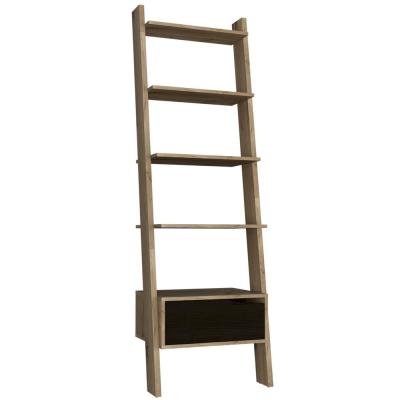 Aster 70 in. Natural Wood Finish Leaning Shelf
