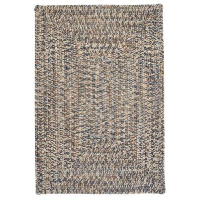Wesley Lake Blue 8 ft. x 11 ft. Rectangle Braided Area Rug
