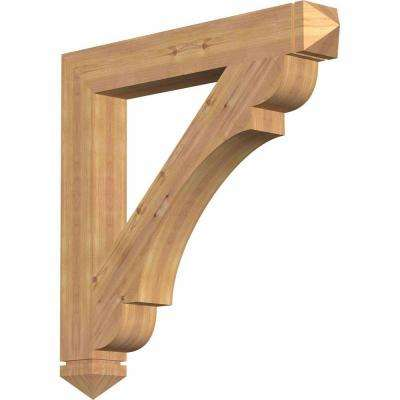5.5 in. x 48 in. x 36 in. Western Red Cedar Olympic Arts and Crafts Smooth Bracket