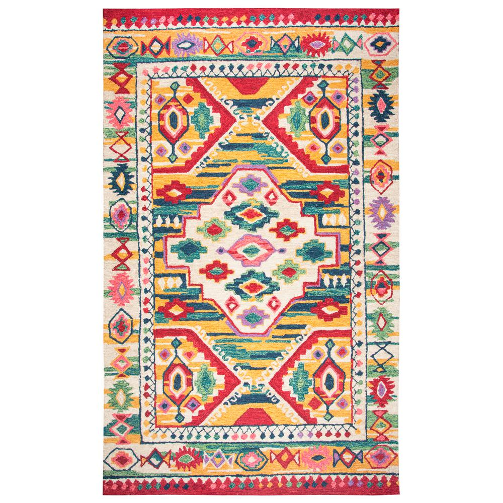 Rizzy Home Zingaro Natural Multicolor 5 Ft X 8 Rectangle Area Rug