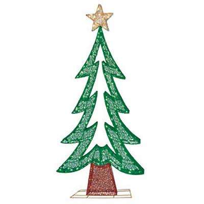 "72""H Fabric Mesh Christmas Tree with 250 Warm White LED's, including 50 pcs Twinkling Bulbs, UL DC adaptor :29V, 0.448A"