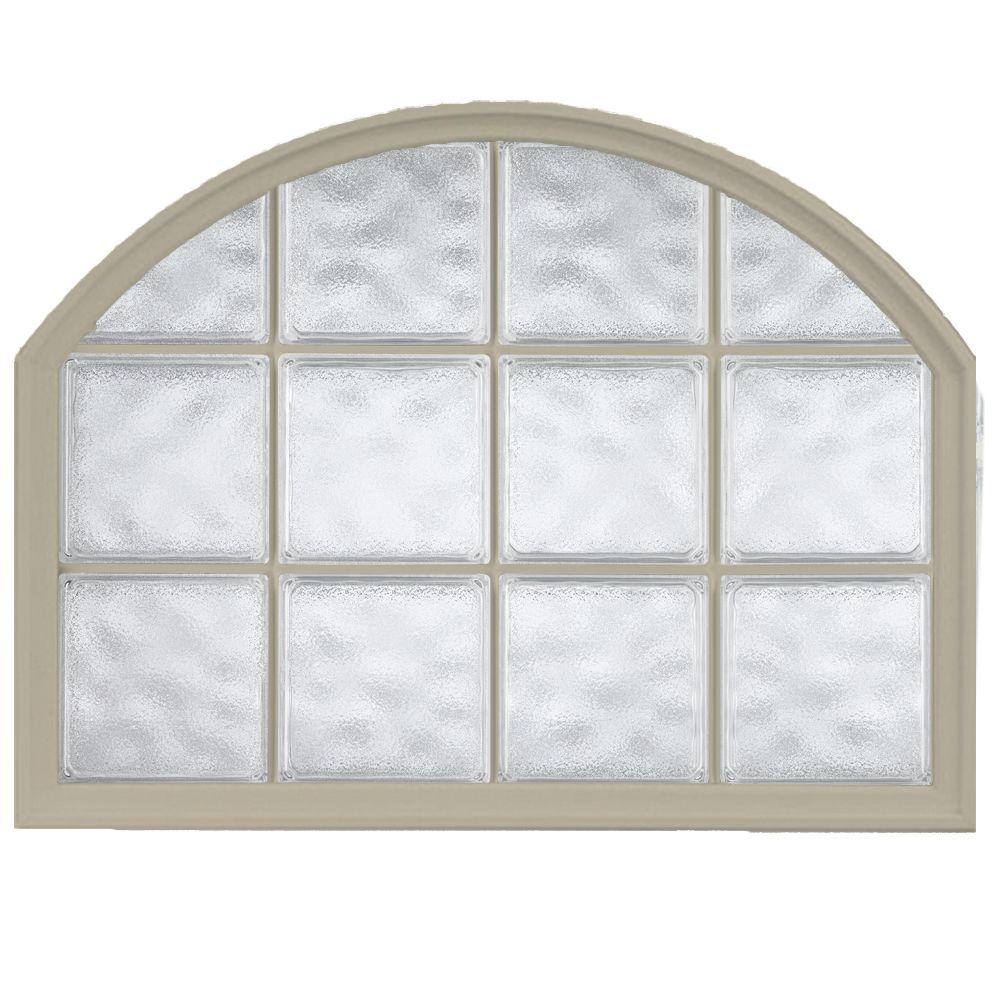 Hy lite 42 in x 50 in acrylic block arch top vinyl for What are the best vinyl windows