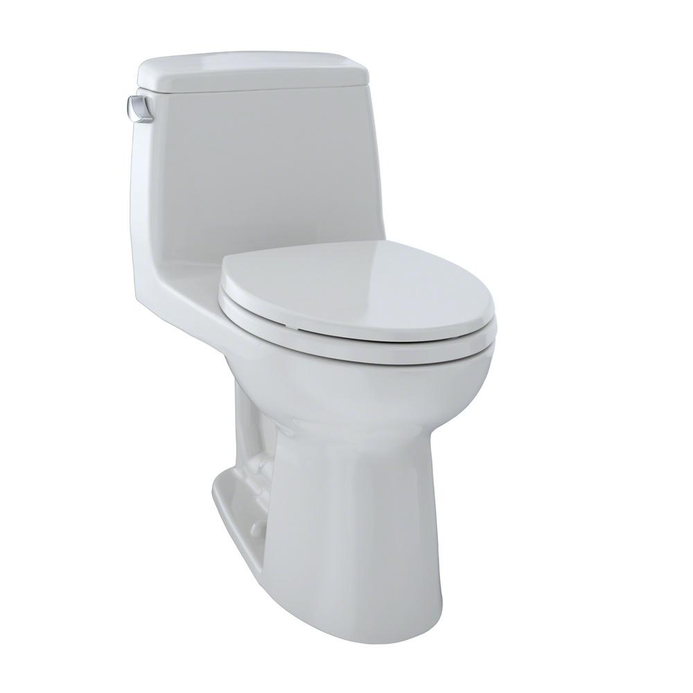 Toto UltraMax 1-Piece 1.6 GPF Single Flush Elongated Toil...