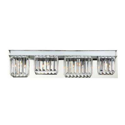 Lumino Collection 4-Light Chrome Bath Bar Light