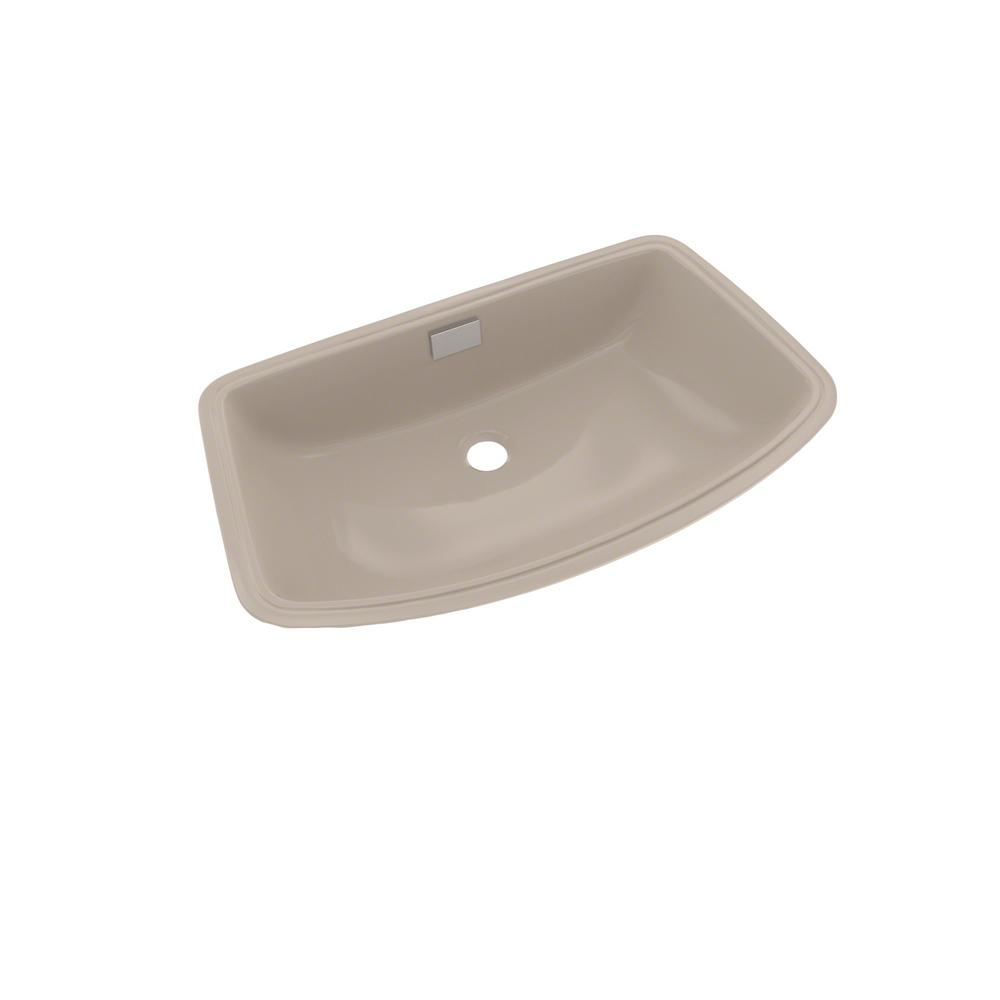 Toto Soiree 25 In Undermount Bathroom Sink In Bone Lt967 03 The Home Depot