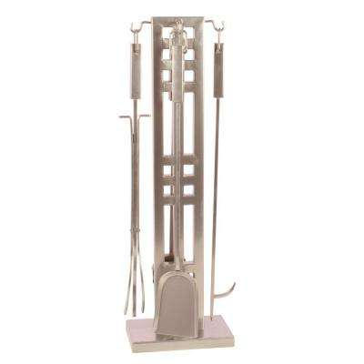 Layton 5-Piece Fireplace Tool Set in Nickel